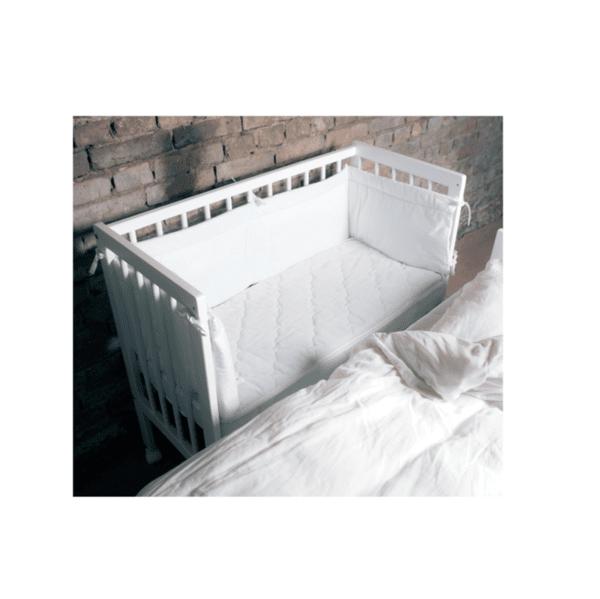 A PPM Бебешко легло Herbie Mini Cot с колелца - бяло